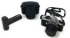 Stranger Things Pentax ME Super Film Camera w/ 50mm Lens, 2Straps, Case & Winder