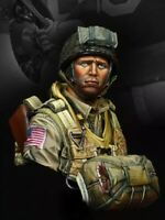 1/10 BUST Resin Figure Model Kit US Paratrooper 82nd Airborne WWII Unpainted