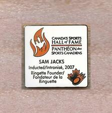 RINGUETTE CANADA SPORTS HALL OF FAME SAM JACKS OFFICIAL PIN OLD