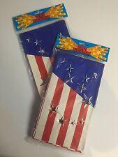 Patriotic Paper Luminaries Stars & Stripes Path Lighting Laterns Lot of 24 Bags