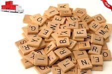 500 Scrabble Tiles Wood Pieces 5 Complete Sets 100 Letters Crafts Pendants Spell