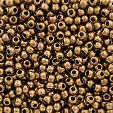 Toho ronda granos de Semilla De Bronce Antigua De Tamaño 6/0 11.5 Gr (Q94/3)