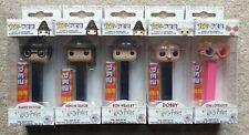 Funko POP Pez Complete Set - Harry Potter, Hermione, Ron, Dobby, Luna - UK STOCK