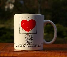 Just A Little Sign Of Affection Heart Love Valentine 1987 Hallmark Coffee Mug