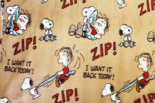 Brand New Peanuts SNOOPY & LINUS Fleece Blanket ( BROWN )