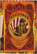 WOODSTOCK GENERATION ROCK POSTER PROMO CARD FEATURING JIMI HENDRIX