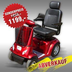 Elektromobil Jansen DL-24800, Seniorenmobil, E-Scooter, rot >> ABVERKAUF <<
