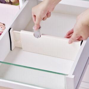 Adjustable Expandable Organiser Separators Kitchen Bedroom Shelf Drawer Divider