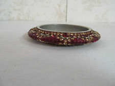 Bangle Bracelet Made in India Red in Color with Jewel Adornments