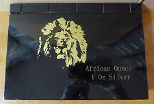 Ruanda in legno MEDAGLIA box per 1 OZ ARGENTO MONETE IN ORIGINALE Mint FOIL imballaggio
