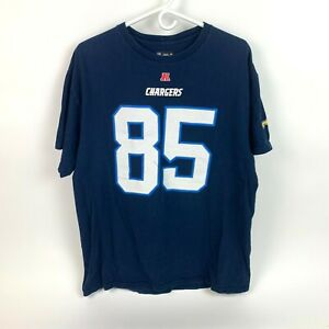NFL Team Apparel Chargers Antonio Gates Number #85 Tee T-Shirt Size XL