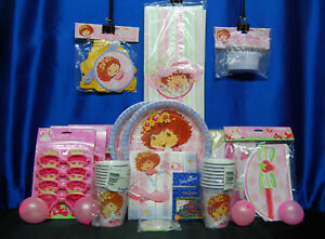Strawberry Shortcake Party Set # 21 Hats Plates Banner Napkins Tablecover Favors