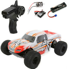 ECX RC ECX03028T1 1/10 AMP MT 2WD Monster Truck RTR, White/Orange w/ Radio