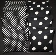 CORNHOLE BEAN BAGS Black & White Polka Dots ACA Regulation Bags Wedding Game