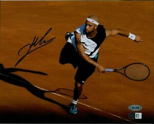 James Blake Tennis Star Signed 8x10 Glossy Photo Steiner Authenticated