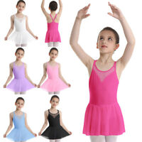 Girls Ballet Ballerina Dance Dress Kids Gymnastics Leotard Tutu Skirt Dancewear