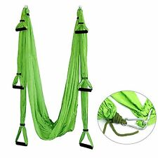 Green Aerial Yoga Swing-Ultra Strong Antigravity Yoga Hammock/Sling/Inversion
