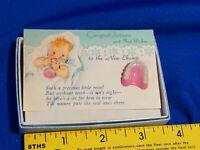 Mid Century Greeting Card Baby Fake Toy Teeth Dentist VTG Odd In Box
