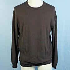 Turnbury 100% Cashmere Mens Medium Espresso Brown Classic Crew Neck Sweater SOFT