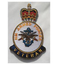 UK STOCK Armed Forces Veteran Soldier British Military Shirt Iron On Patch Badge
