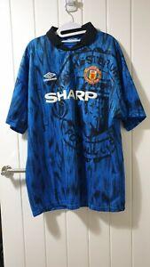 Umbro Genuine Original Manchester United Away Shirt 1992/93 XL