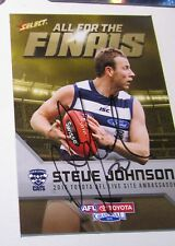 Geelong - Steve Johnson signed 2015 AFL / Select Limited Edition Finals Card