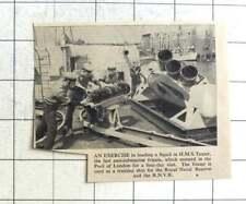 1957 Loading A Squid In HMS Teazer Anti-sub Frigate