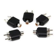 5 PZ Fono RCA Femmina a 2 Doppio RCA Maschio Y Splitter Adattatore convertitore video AV Video