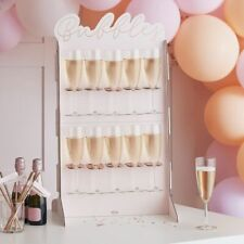 ROSE GOLD FOILED & BLUSH PROSECCO WALL Tabletop Cardboard Centre Hen Night Party