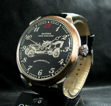ALPINA UNION HORLOGERE CHRONOMETRE Antique Men's Large Silver Watch