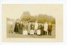 Salem OR Family RPPC Antique Photo—Flag Cancel ca. 1909