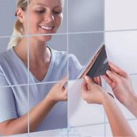 16pc 15*15cm Selbstklebend Spiegel Fliesen Wandtattoo Wandsticker Wandaufkleber