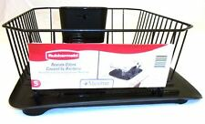 RUBBERMAID SINK LARGE DISH DRAINER 6032-AR & TRAY MAT BOARD 1182-MA BLACK NEW