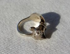 Vintage Vtg Sterling Silver 925 Pet Kitty Cat Wrap Ring Animal Figural Size 2