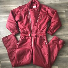 Bogner Mens Vintage Ski Suit Size 40L Red (With Measurements!)