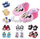Newborn Baby Girls Boy Mickey Minnie Mouse Soft Sole Prewalker Cotton Crib Shoes