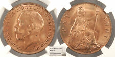 GREAT BRITAIN George V 1916 Penny NGC MS-65 RB