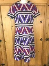 New listing Vintage 70s Sacony women's dress sleeveless size M Colorful Geometric
