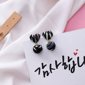 3 Designs of Ladies Stub Pom Pom Earrings 925 Silver Colourful Jewellery Gift