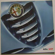ALFA ROMEO 147 3-dr 1.6 2.0 TS TURISMO LUSSO 2001-03 ORIGINALE UK SALES BROCHURE