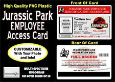 Jurassic Park Employee Access ID Badge / Card >>CUSTOM WITH YOUR PHOTO & INFO<<