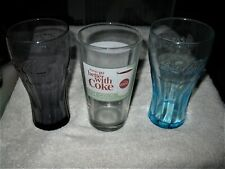 Mixed Lot of 3 Vintage Coca Cola Coke Glasses in Exc. Cond. 1960-1969 Glass NICE