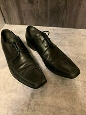 Men's ALFANI Black Leather Dress Shoes 6192 Lotus US 10