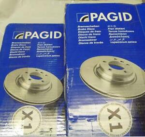 2 x Pagid 54199 FITS MERCEDES-BENZ GLK-CLASS Front 330mm Vented Disc Rotors