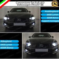 CONVERSIONE FARI A LED VW PASSAT B8 3G ANABBAGLIANTI + ABBAGLIANTI 12800 LUMEN
