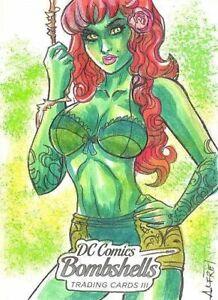 2019 Cryptozoic DC Comics Bombshells Series 3 Alfret Le Sketch card Poison Ivy