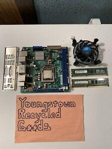 INTEL DQ67EP LGA1155 MINI ITX DESKTOP MOTHERBOARD COMBO W/ i3-2100T & 4GB DDR3