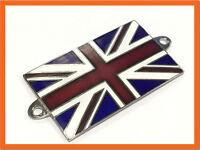 Union Jack Flag Metal Enamel Badge Emblem Classic Car