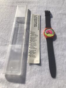 1985 Vintage Swatch Watch GO-001 Breakdance Keith Haring Inspired New In Case