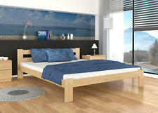 KING SIZE SOLID PINE WOOD BED 160x200 +PINE SLATS +MATTRESS +FREE P&P